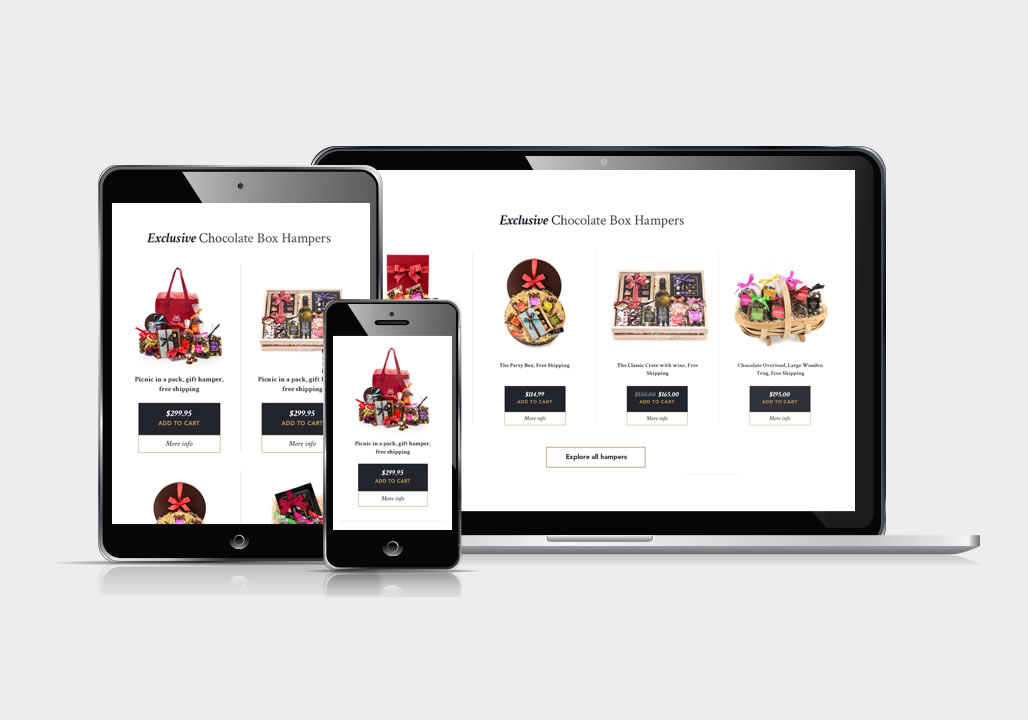 Responsive website user interface design / UX